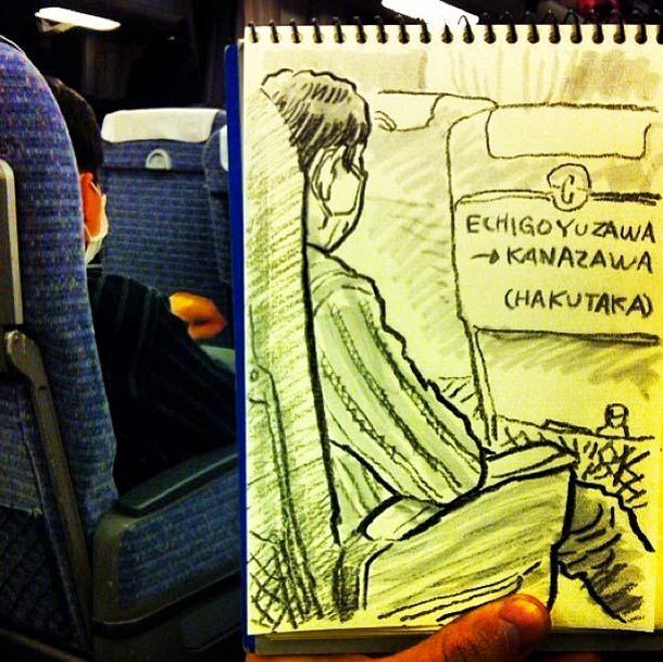 Tof! Japanner schetst dagelijkse situaties in het openbaar - Froot.nl