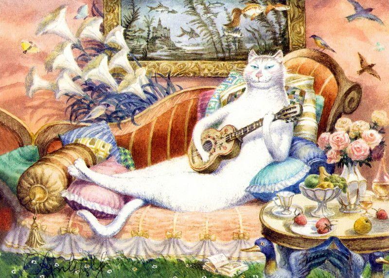 Наше все: кто рисует знаменитые питерские пейзажи с умопомрачительными котами