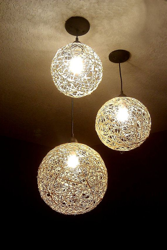 Light Decorations For Living Room: Chandelier, Hanging Lighting, Home Lighting, Hemp Lights