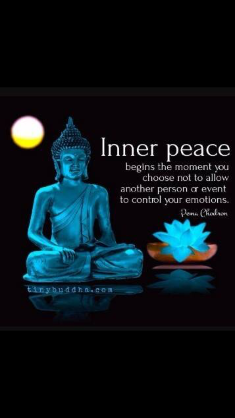 Inner Peace Has To Do With Nothing Getting You