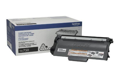 Brother Tn750 High Yield Toner Cartridge This Toner Can Be Used In Hl5450dn Hl5470dw Hl5470dwt Hl6 Brother Printers Laser Toner Cartridge Toner Cartridge