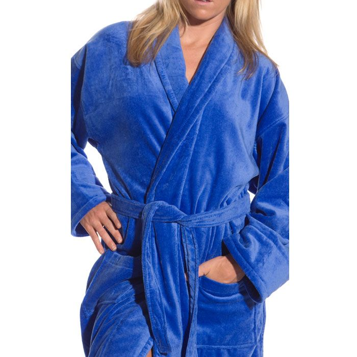 Terry Velour Shawl Robe | Bath robes, Shawl and Dressing gown