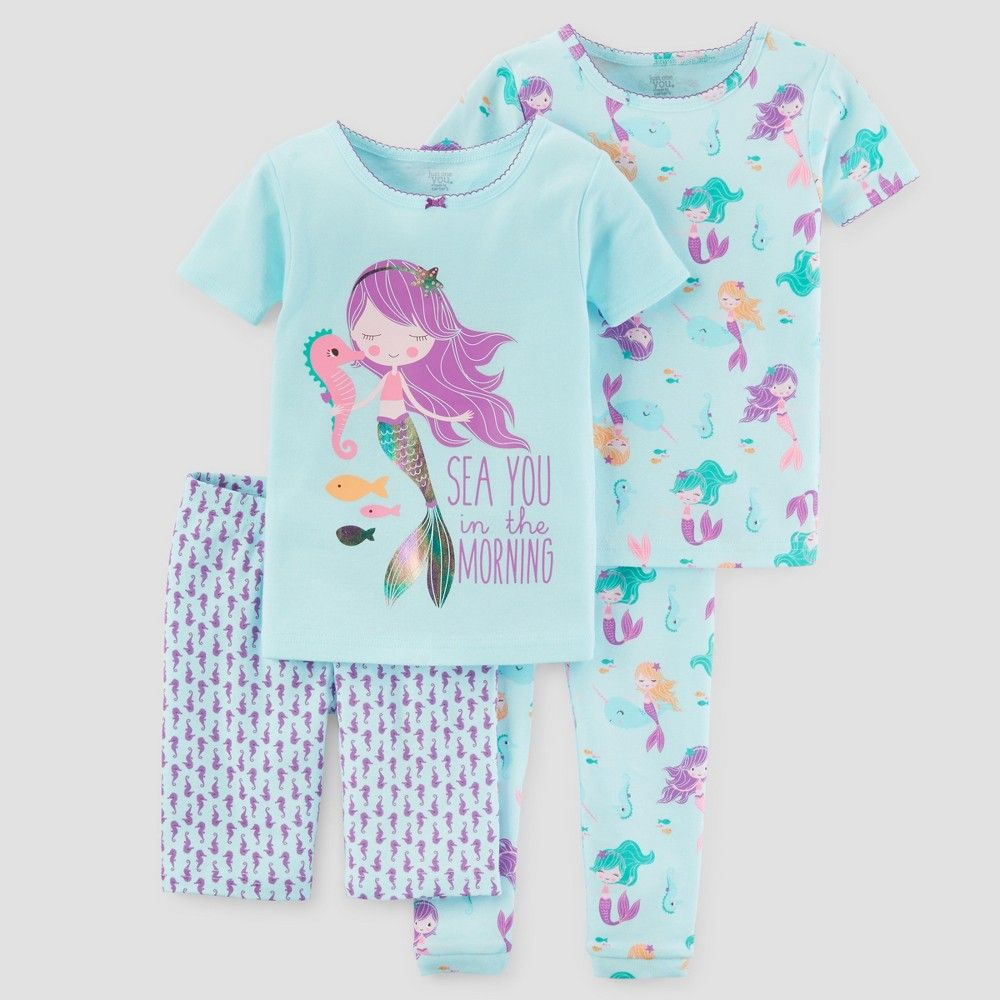 125faf4445 Toddler Girls  Pajama Set - Just One You Made by Carter s Turquoise ...