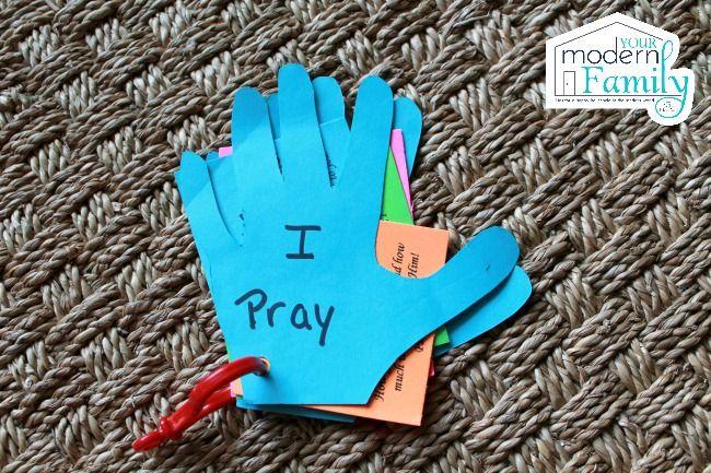 DIY prayer hands for kids My Ministry Prayers for