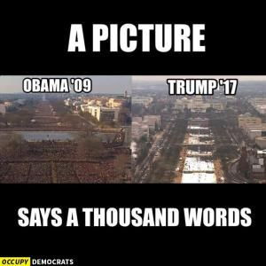 The best memes, tweets and jokes about Donald Trump's presidential inauguration.: Trump vs. Obama  Crowd Sizes