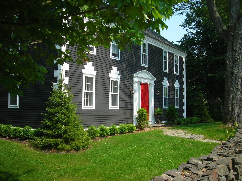 Renovated Historic 1784 Georgian Colonial Home Featured In Maine Home Exterior Home