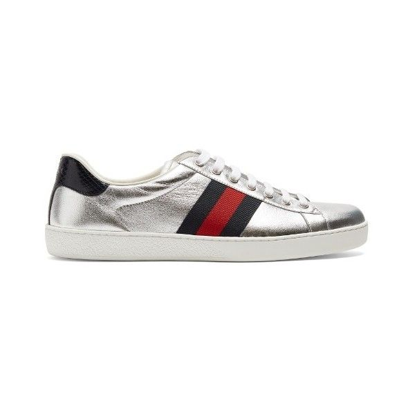 6ca6130ccbc Gucci New Ace low-top leather trainers (2.040 BRL) ❤ liked on Polyvore