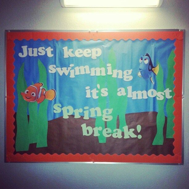 Resident Assistant Board Ideas April  Just Keep Swimming