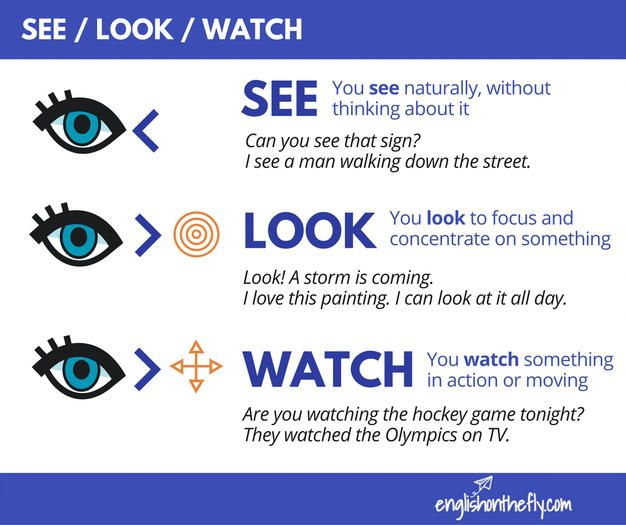 English Vocabulary - Look / See / Watch - YouTube