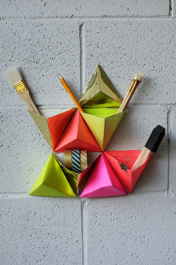 DIY Origami ou comment ranger son bureau en couleur Crdits photos