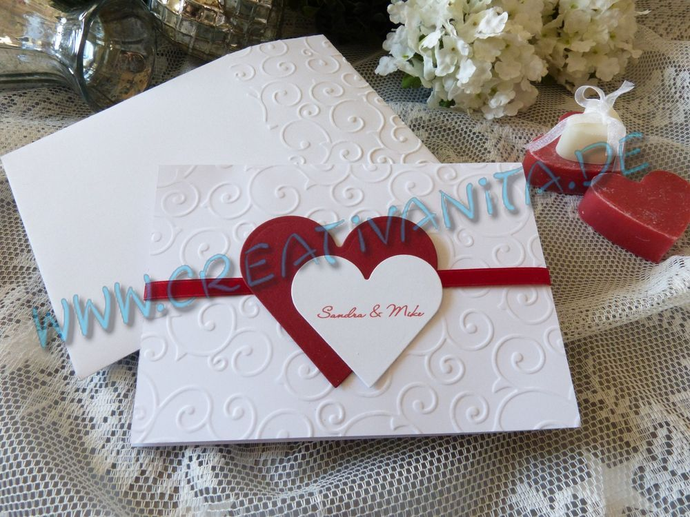 10 Einladung Hochzeit Einladungskarten Hochzeitskarte Einladung*BORDEAUX WEINROT  In Sammeln U0026