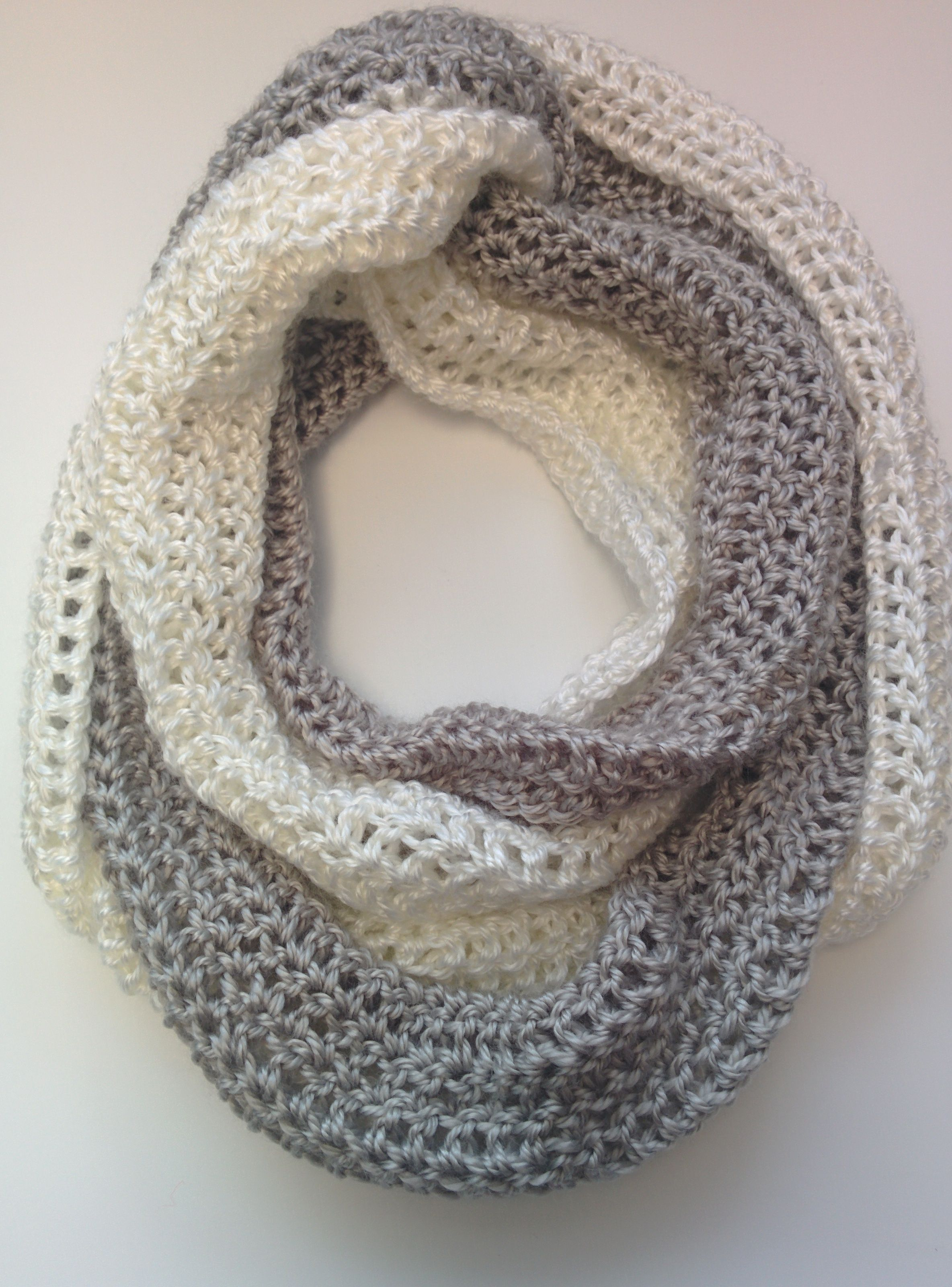 Free Crochet Pattern! The Duo-Chrome Infinity Scarf is 3 scarves in ...