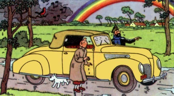 tintin 1939 Lincoln car in Tintin and The Calculus Affair • Tintin, Herge j'aime