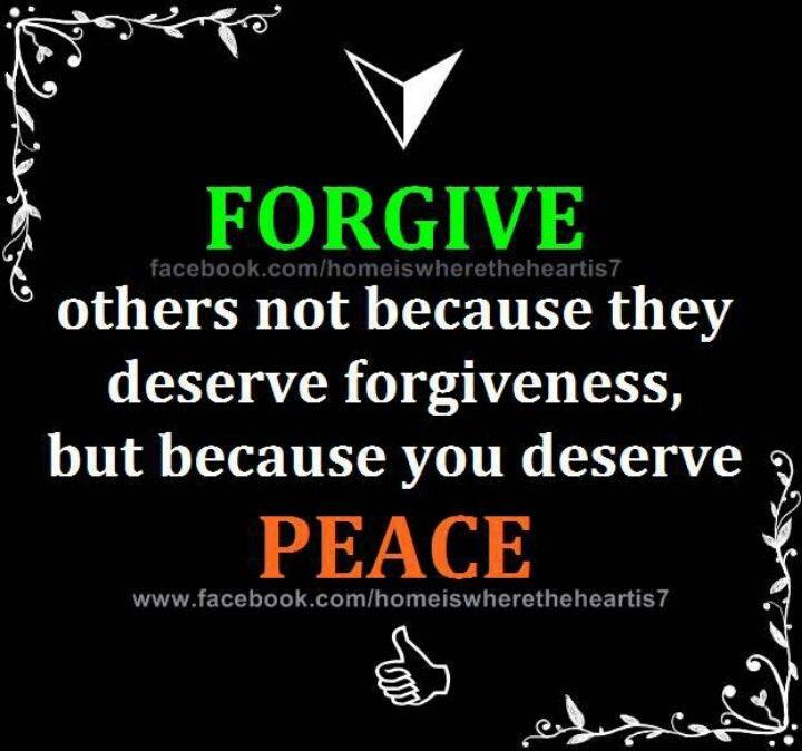 forgive...peace...