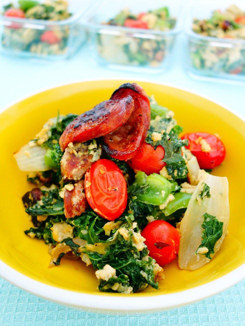Big Breakfast Paleo Scramble (Chorizo and Kale) Recipe