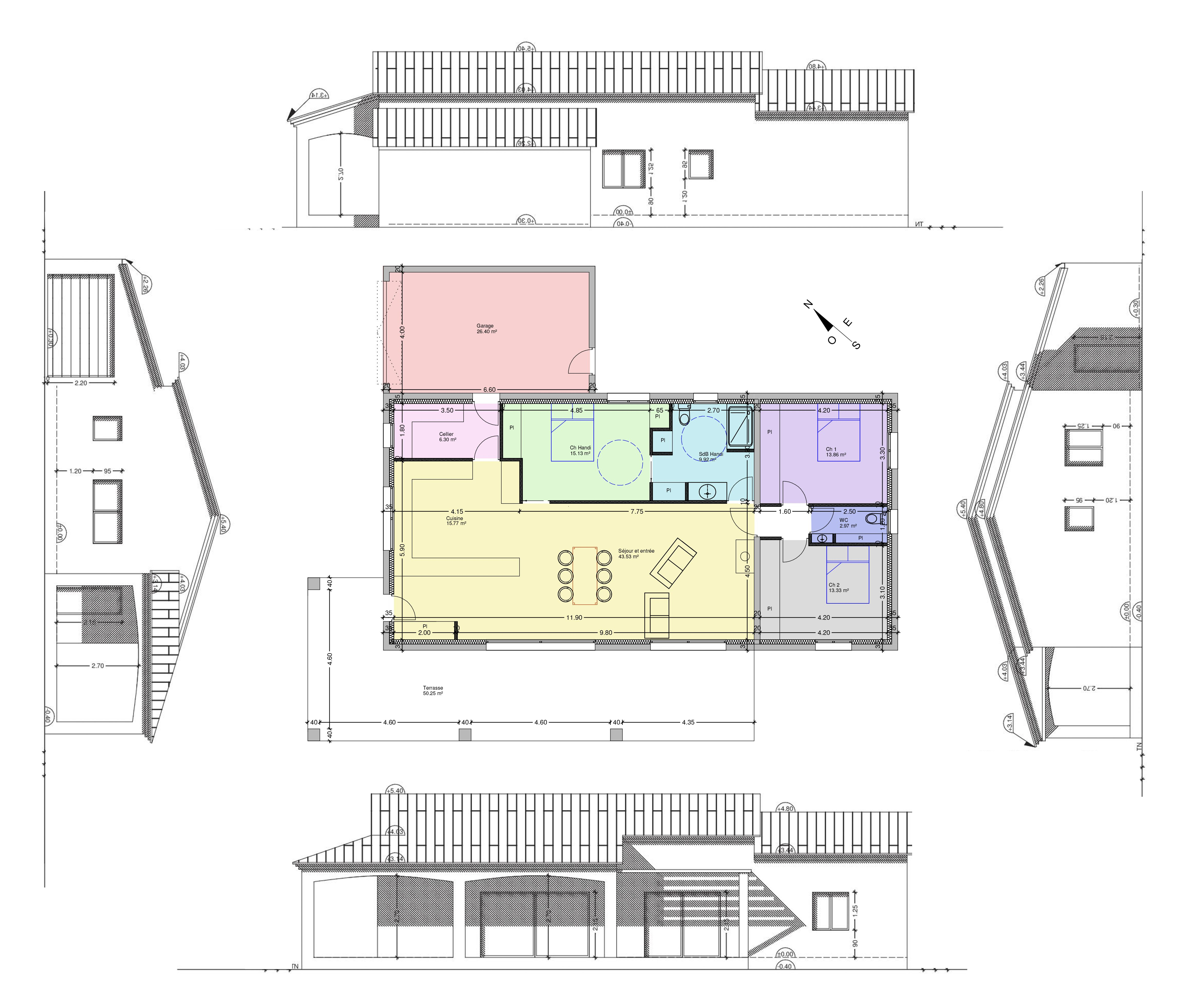 Maison Ossature Bois Dessinateur Plans Permis 3