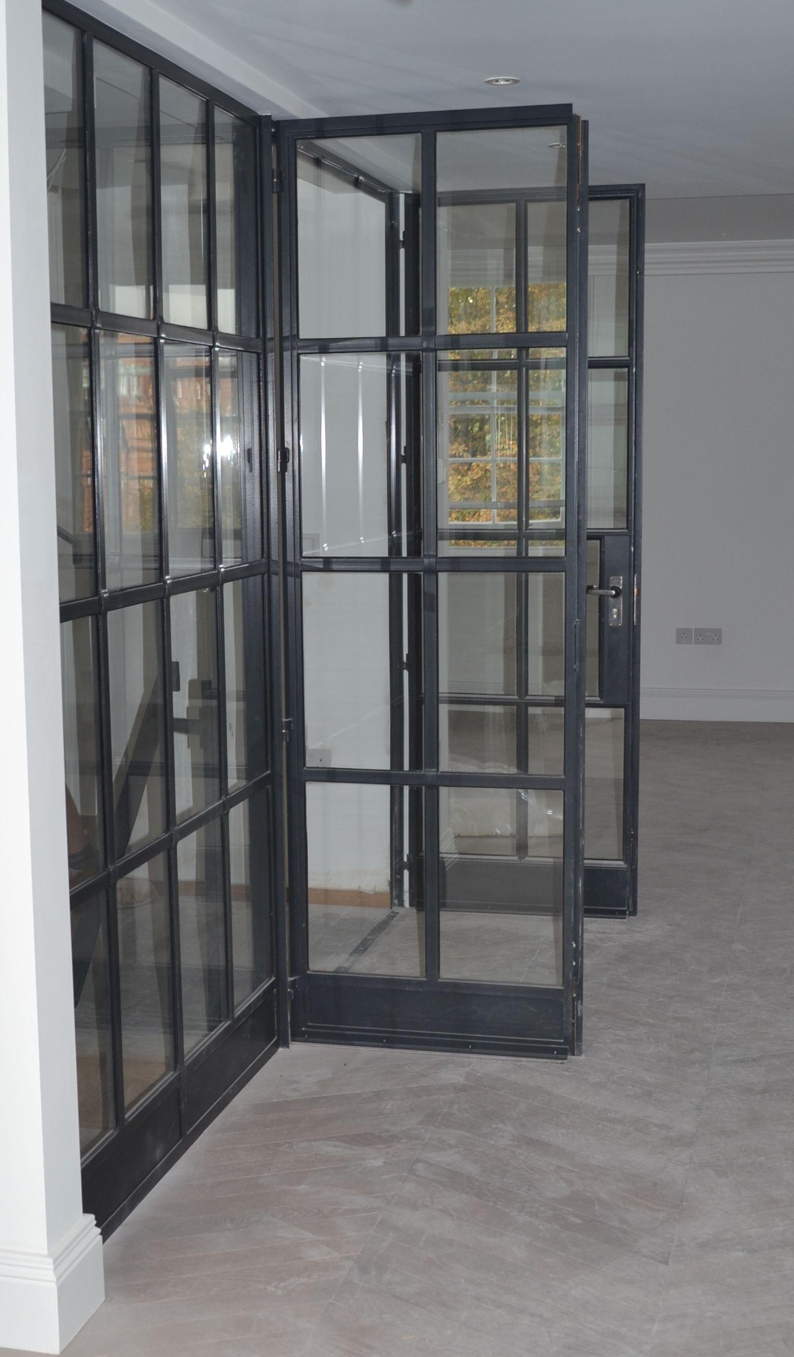 Lightfoot Windows (Kent) Ltd internal Crittall door screen featuring fire rated glass. & Image result for crittall screen | Living room update | Pinterest ...