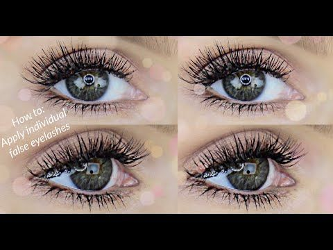 How to Apply Individual Lashes/Eyelash Extensions | Makeup ...