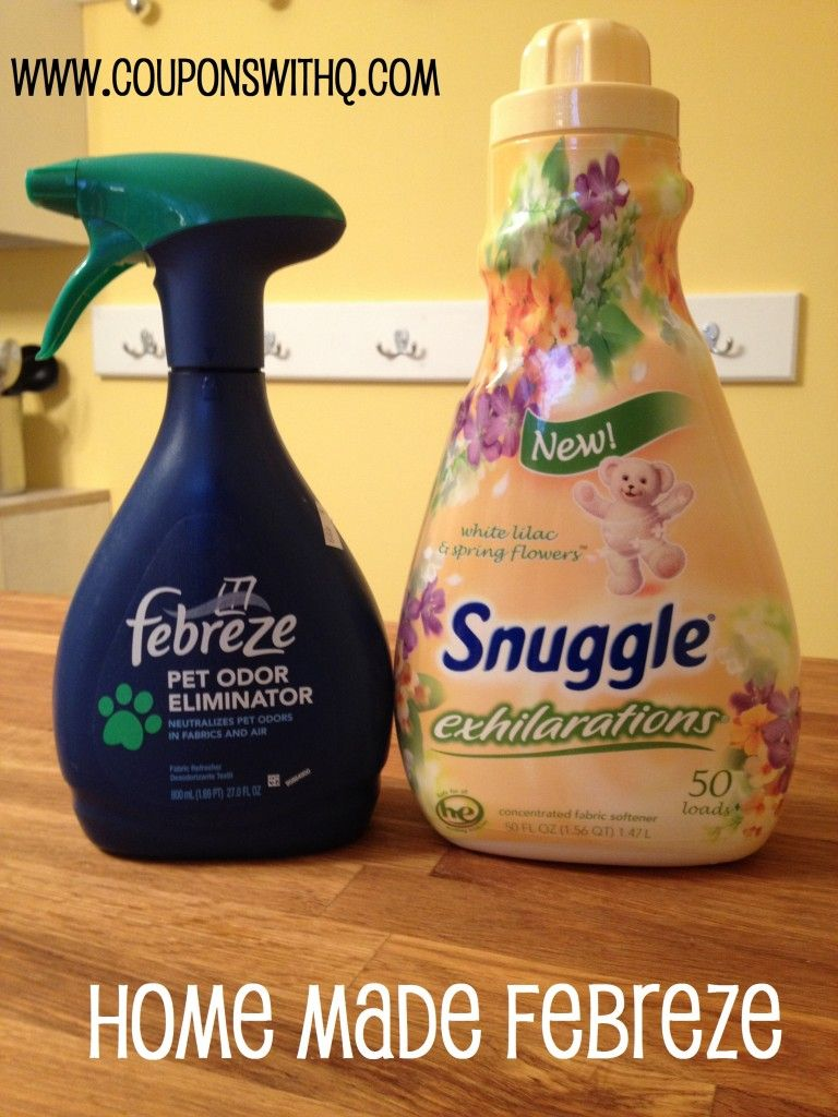 Homemade Febreeze Empty Bottle I Just Re Used An Old Febreze Fabric Softner Baking Soda For A 27 Ounce Mixed Four Tablespoons Of