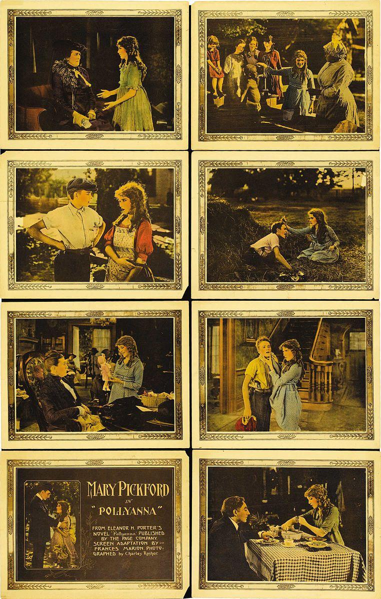 Lobby card set for Pollyanna (1920) starring Mary Pickford.