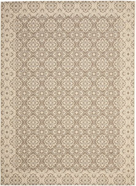 Amazon.com - Safavieh CY6550-22-8 Courtyard Collection Brown and Cream Indoor/Outdoor Area Rug, 8-Feet by 11-Feet 2-Inch