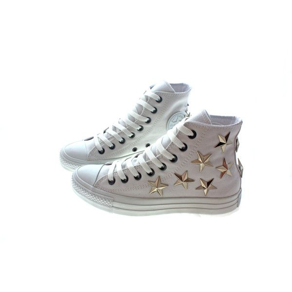 Studded Converse by CUSTOMDUO on ETSY ($90) via Polyvore