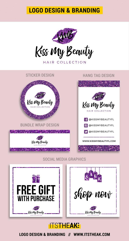 Premade Logos Premade Logo Beauty Business Cards Hair Business