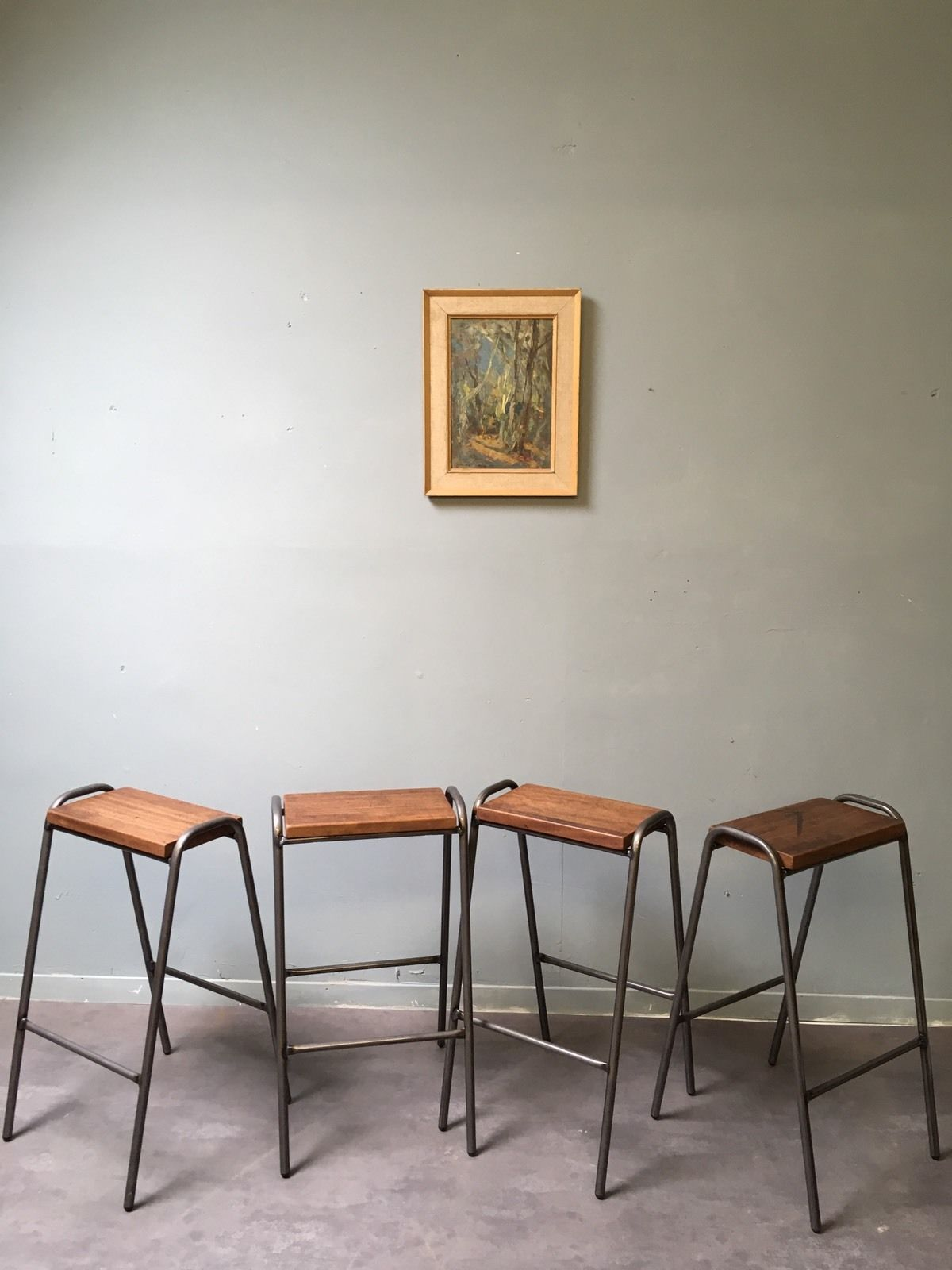 Wondrous Vintage Retro Industrial School Stacking Science Lab Ocoug Best Dining Table And Chair Ideas Images Ocougorg