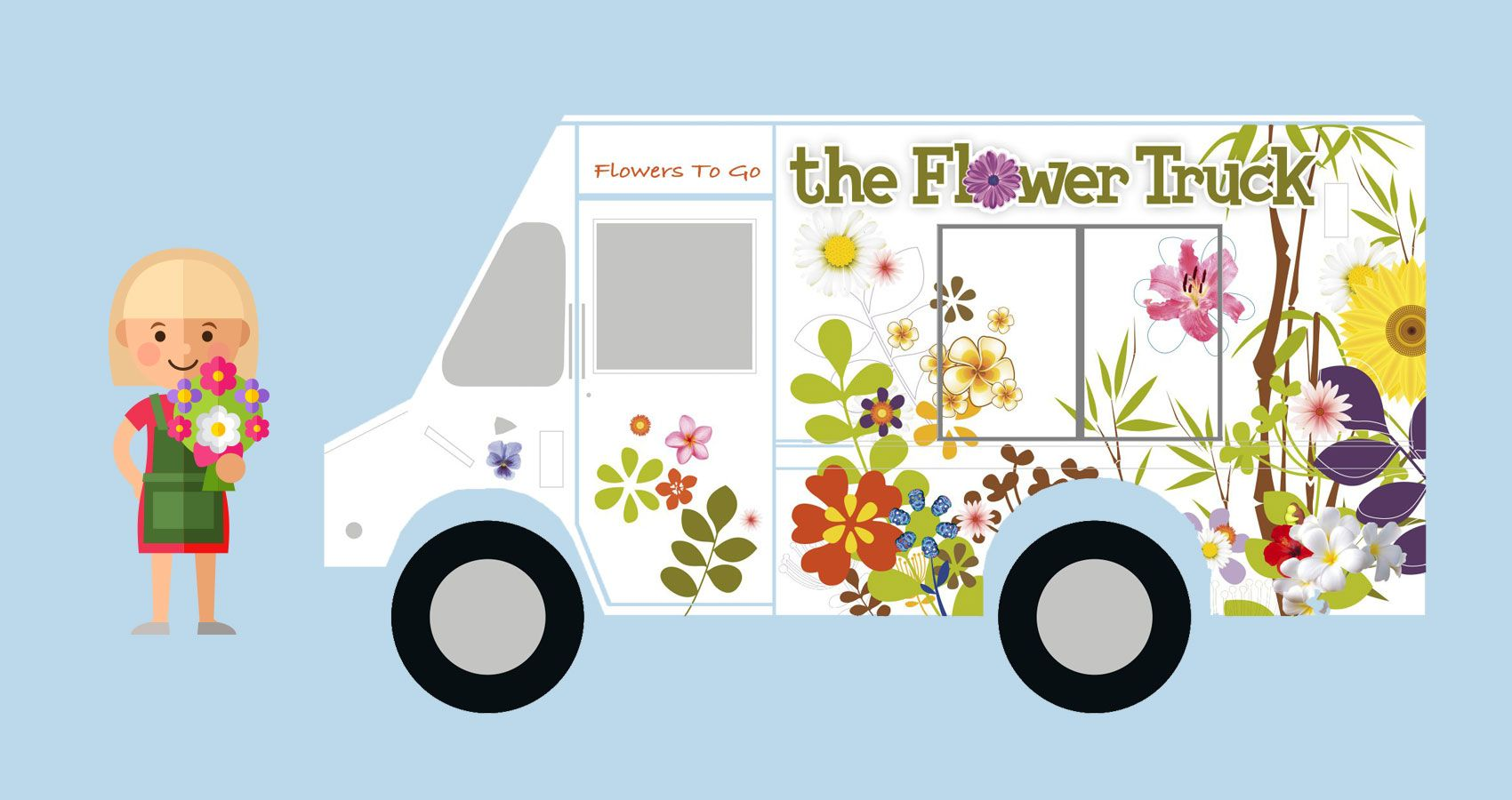 Atlanta florist flower delivery by the flower truck