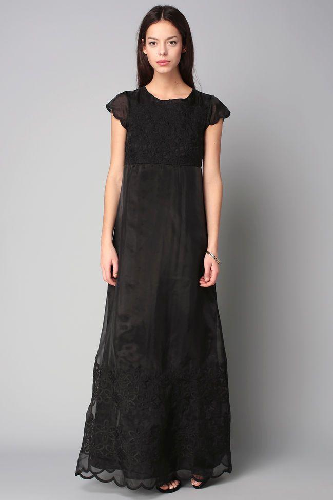 Vestido largo - me6eprl - Negro