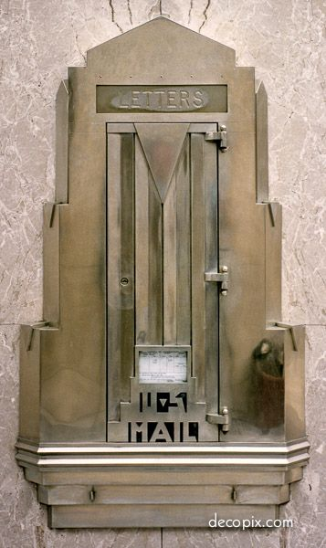 Mailbox, Bell Telephone – Minneapolis, MN | Art Deco Metalwork Gallery - Decopix - The Art Deco Architecture Site