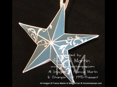 3 D Christmas Star Ornament Frenchiestamps Com Youtube