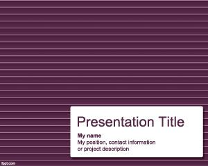 002 Free horizontal lines PowerPoint template background