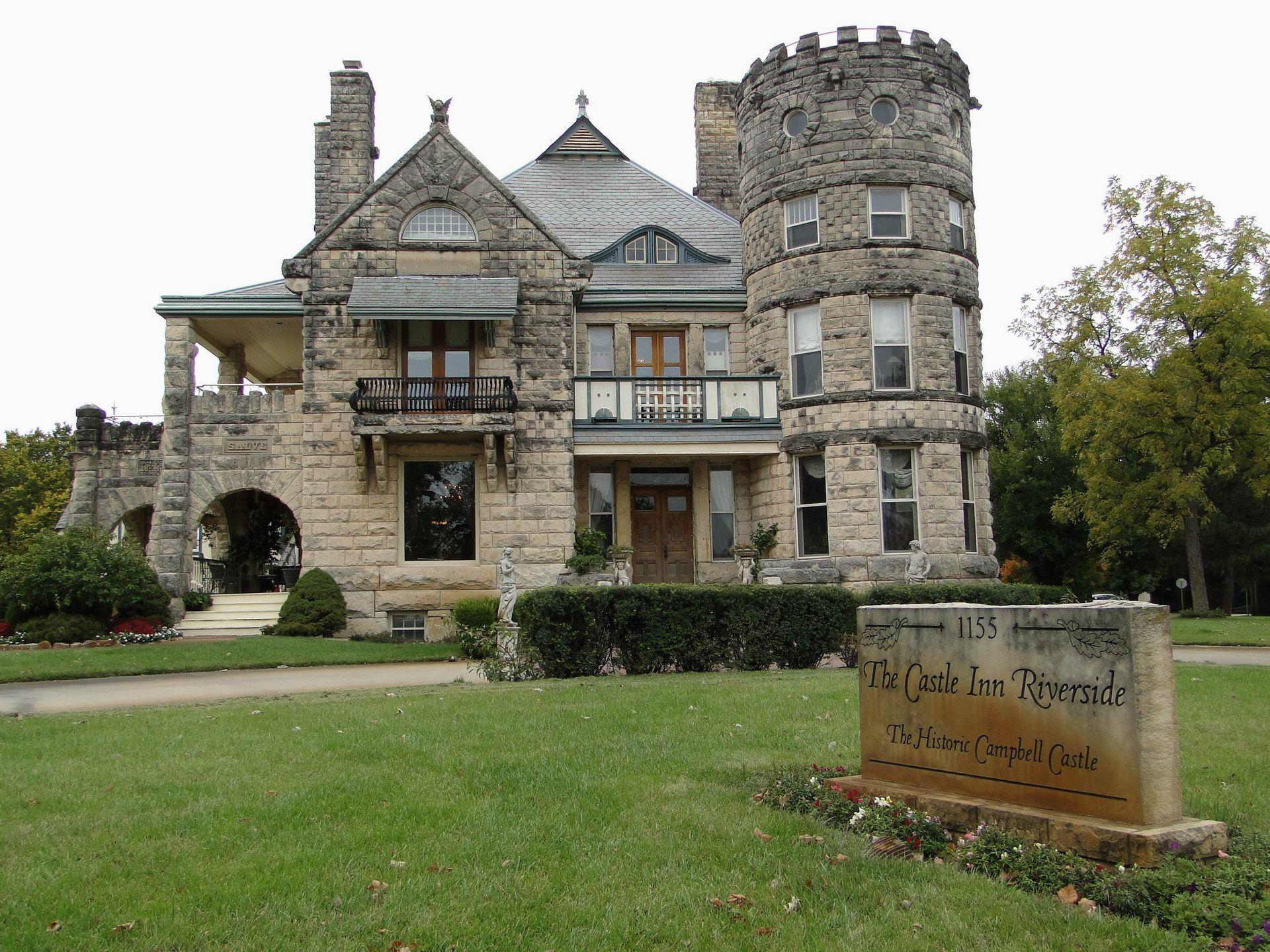 Wichita Kansas The Wonderful Historical Castle Inn Riverside United States Usa Hd Desktop Wallpaper