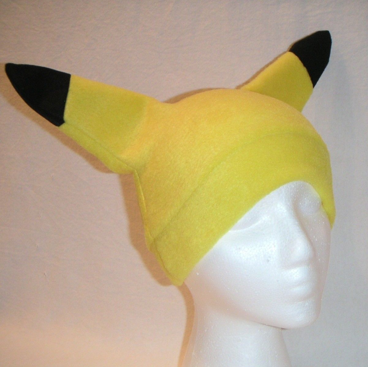 50c11576c25 New custom made ADULT SIZE Pikachu Hat Costume Ski Hat ears Cap Halloween  Pokemon. Add yellow sweats and pink cheeks