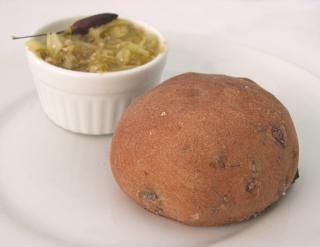 Padaria Moderna - Pão preto de azeitonas e cebolas