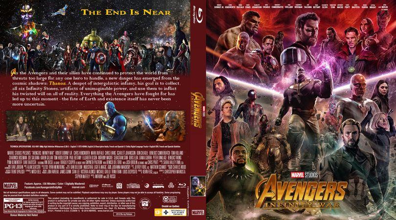 Avengers Infinity War 2018 Blu Ray Custom Cover Avengers Infinity War Avengers The End Is Near