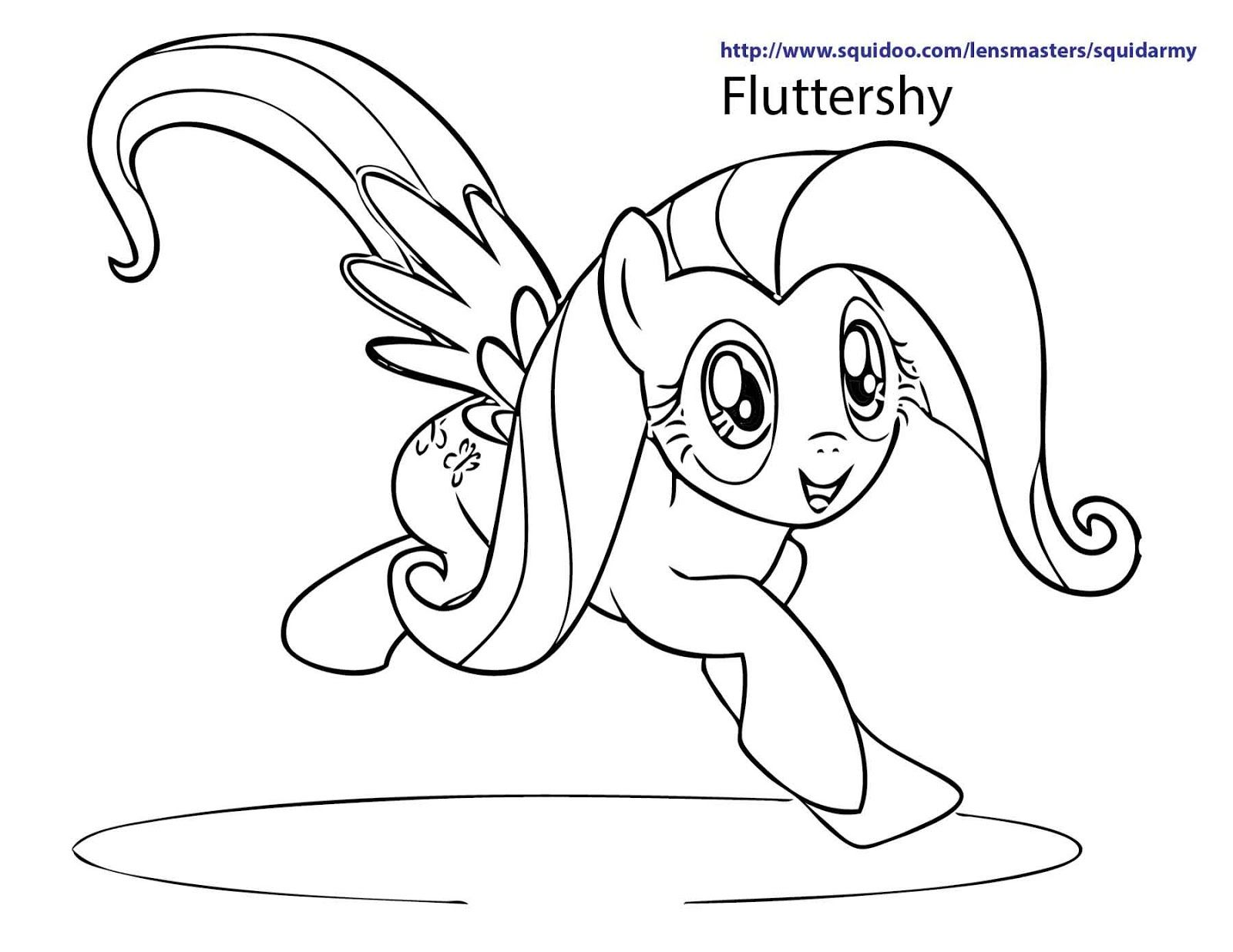 My little pony coloring page fluttershy