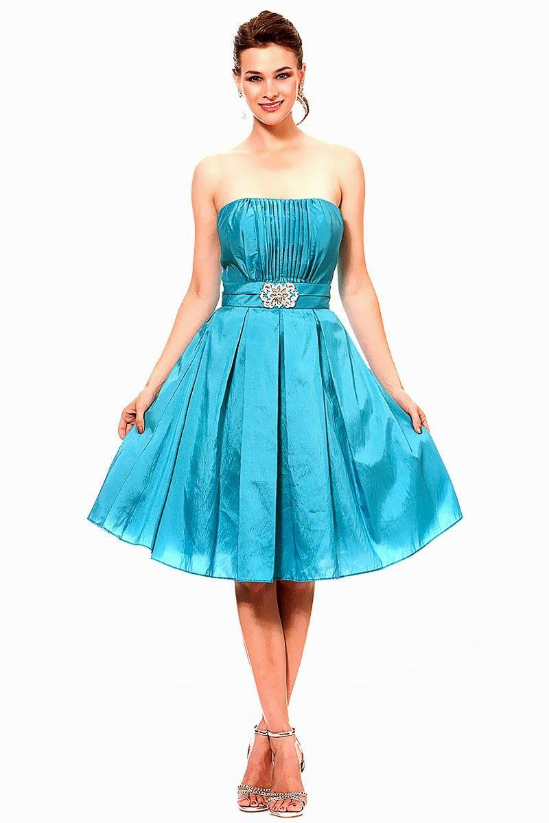 Vestidos de noche color azul turquesa - Grandiosos Vestidos De C Ctel Azules