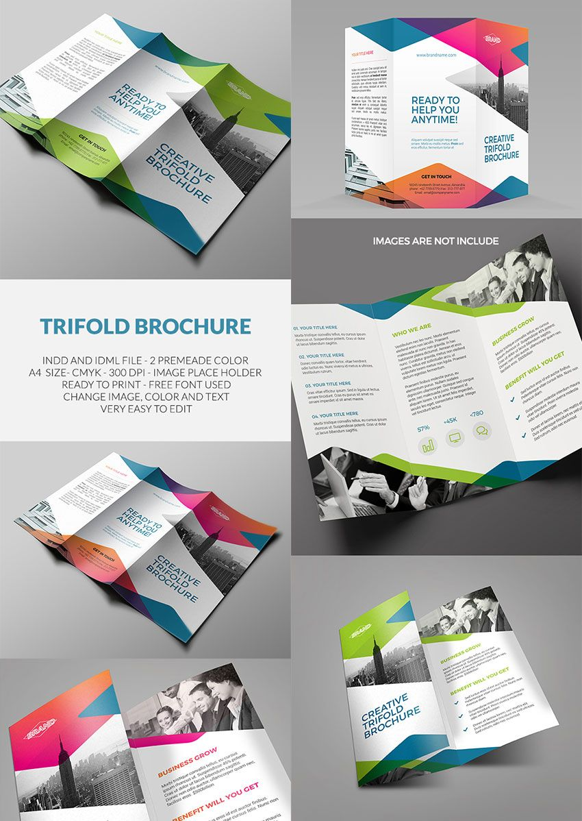 Trifold Brochure InDesign Template Amann Pinterest - Indesign trifold brochure template