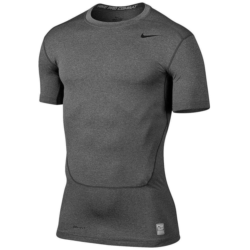 on sale fd432 54dcc Nike Mens Pro Combat Core Compression Shirt Gray Carbon 449792 021 NWT  Nike   ShirtBaseLayers