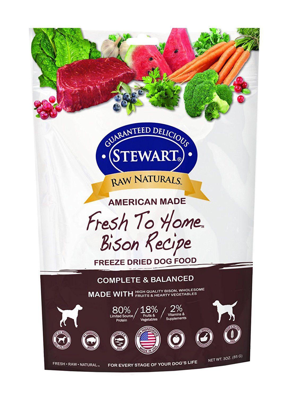 Stewart 402764 Bison Raw Naturals Freeze Dried Dog Food, 3