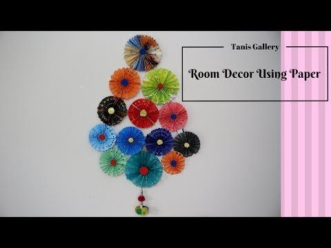Colour Paper Wall Hanging New Ideas Decorate Your Room Paper