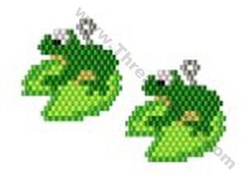 Frog Earring Bead Pattern By ThreadABead