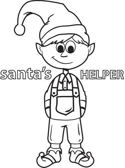 FREE Printable Elf Coloring Page for Kids   Free christmas ...