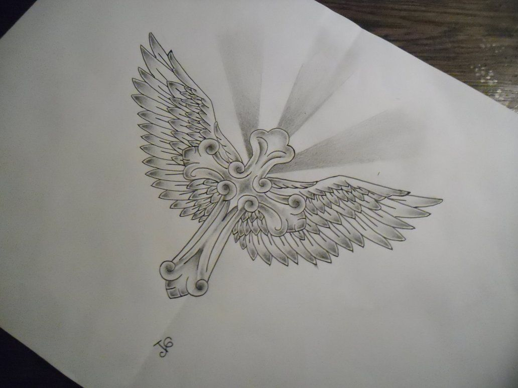 this ia cross with wings i drew i used inspiration from existing wings design and a different. Black Bedroom Furniture Sets. Home Design Ideas