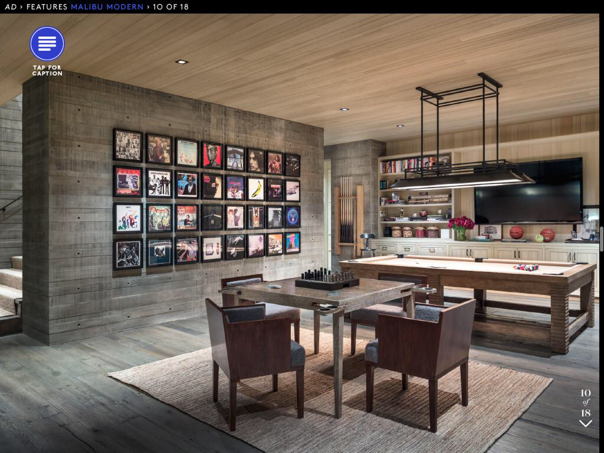Architectural Digest Game Room Pool Table Room Small Room