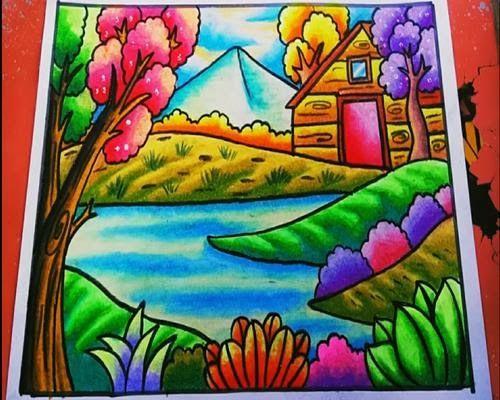 Menakjubkan 30 Gambar Pemandangan Yg Bagus 84 Gambar Pemandangan Gunung Dan Sawah Yang Sudah Diwarnai Downl Lukisan Kupu Kupu Cara Menggambar Seni Melukis
