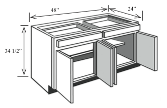 Best B48 Kitchen Base Cabinet 48 W X 34 1 2 H X 24 D 400 x 300