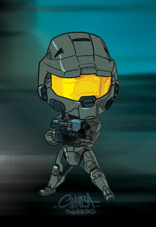 how to draw chibi halo characters